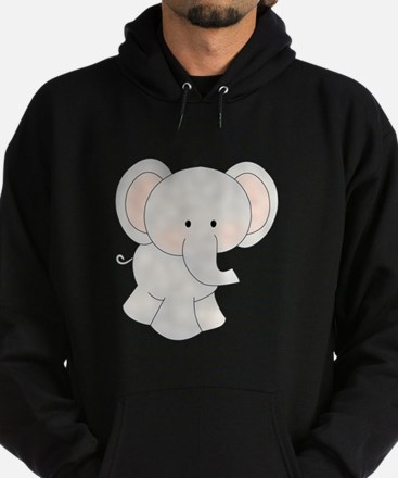 Cartoon Elephant Hoodie (dark)