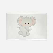 Cartoon Elephant Rectangle Magnet (100 pack)