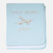 Future Airplane Pilot baby blanket