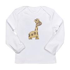Cartoon Giraffe Long Sleeve Infant T-Shirt