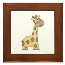 Cartoon Giraffe Framed Tile