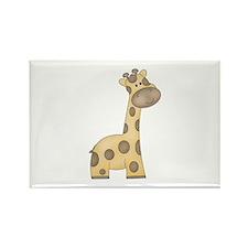 Cartoon Giraffe Rectangle Magnet