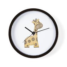 Cartoon Giraffe Wall Clock