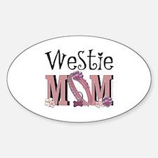 Westie MOM Sticker (Oval)