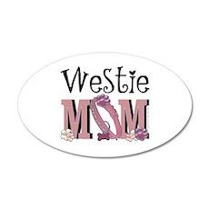 Westie MOM 22x14 Oval Wall Peel