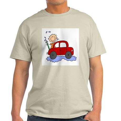 Stick Girl Washing Car Light T-Shirt