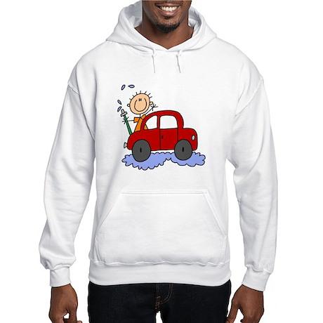 Stick Girl Washing Car Hooded Sweatshirt