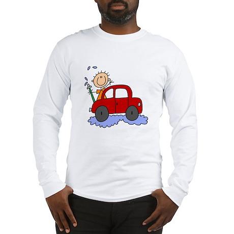 Stick Girl Washing Car Long Sleeve T-Shirt