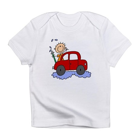 Stick Girl Washing Car Infant T-Shirt