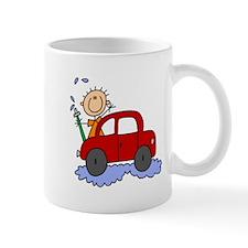 Stick Girl Washing Car Mug