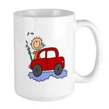 Stick Girl Washing Car Mug