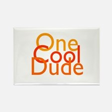 One Cool Dude Rectangle Magnet