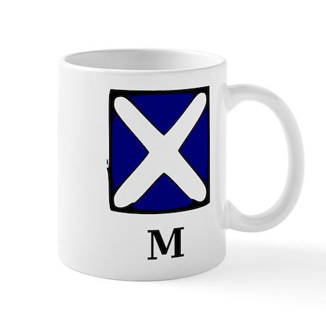 Nautical Letter M Mug