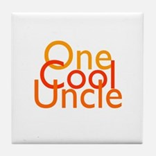 One Cool Uncle Tile Coaster