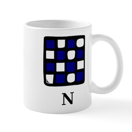 Nautical Letter N Mug