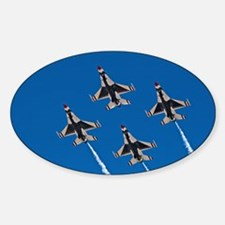 Thunderbirds 4 Bird Side Sticker (Oval)
