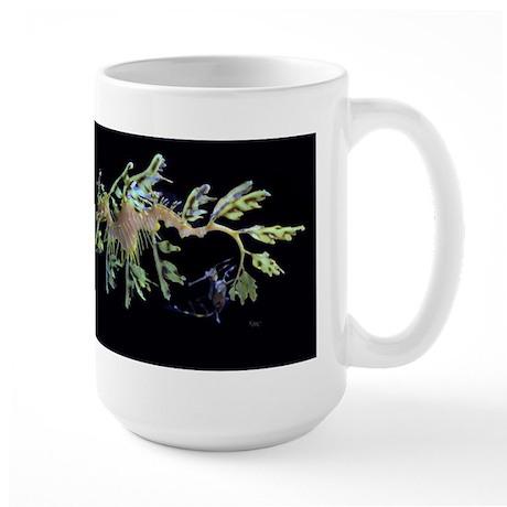 Leafy Seadragon with Weedy Se Large Mug