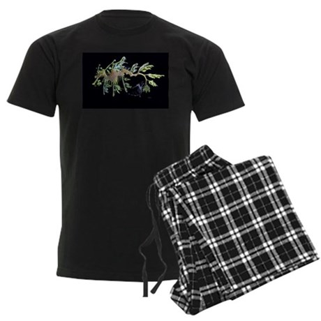 Leafy Seadragon with Weedy Se Men's Dark Pajamas