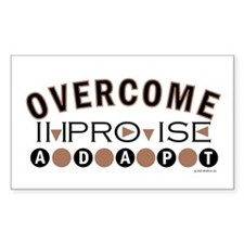 Improvise, Adapt, Overcome Rectangle Decal