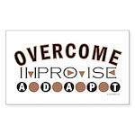 Improvise, Adapt, Overcome Rectangle Sticker