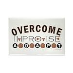 Improvise, Adapt, Overcome Rectangle Magnet