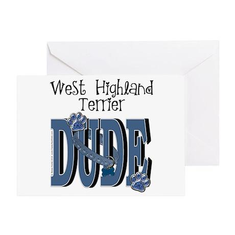 Westie DUDE Greeting Card