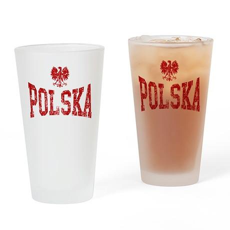 Polska White Eagle Drinking Glass