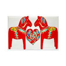 Swedish Dala Horses Rectangle Magnet