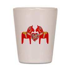 Swedish Dala Horses Shot Glass