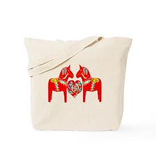 Swedish Dala Horses Tote Bag