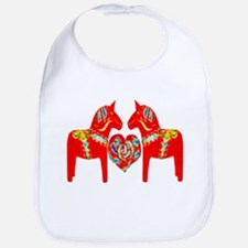 Swedish Dala Horses Bib