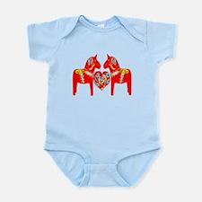 Swedish Dala Horses Infant Bodysuit