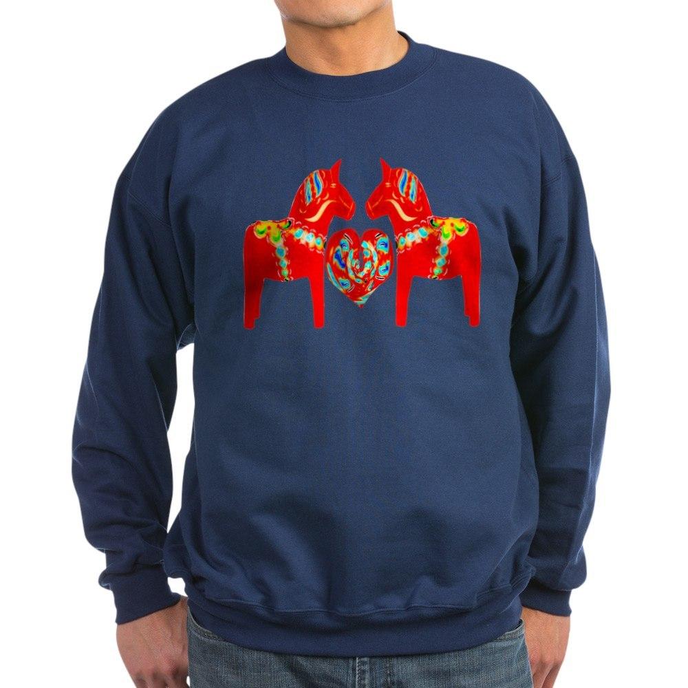 559116411 CafePress Swedish Dala Horses Classic Crew Neck Sweatshirt