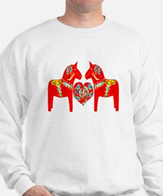 Swedish Dala Horses Sweatshirt