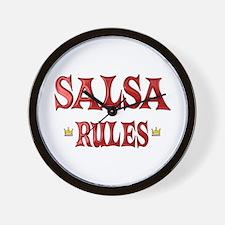 Salsa Rules Wall Clock