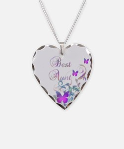 Best Aunt Necklace Heart Charm