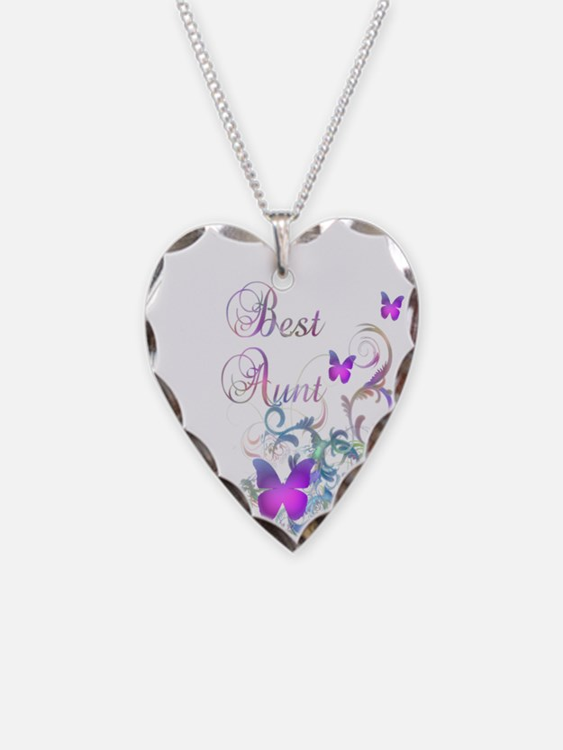 Best Aunt Necklace Heart Charm