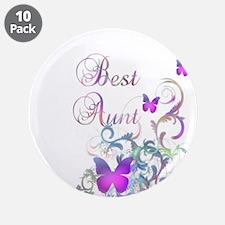 """Best Aunt 3.5"""" Button (10 pack)"""