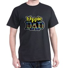 Hippie Dad Black T-Shirt