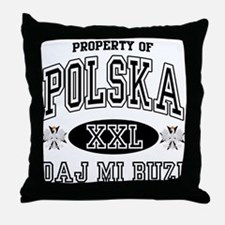 Polska Daj Mi Buzi Throw Pillow