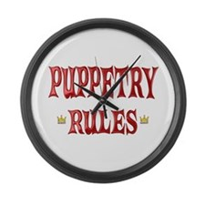 Puppetry Rules Large Wall Clock