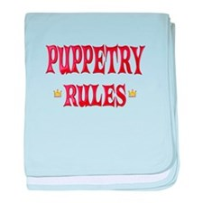 Puppetry Rules baby blanket