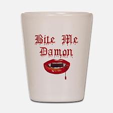 Bite Me Damon Shot Glass