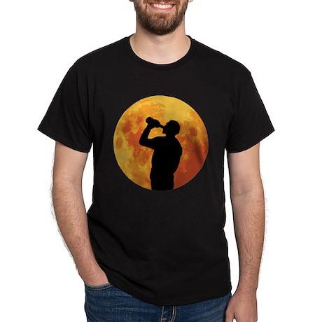 Full Moon Drinking Dark T-Shirt