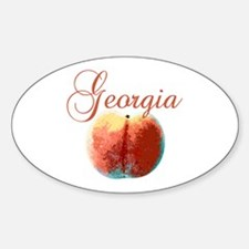 Georgia Peach Sticker (Oval)