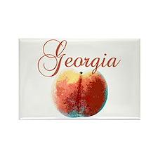 Georgia Peach Rectangle Magnet