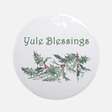 Yule Blessings Ornament (Round)