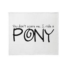 Pony Throw Blanket