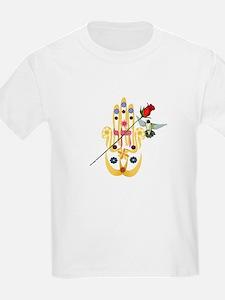 Hamsa and Flowers T-Shirt