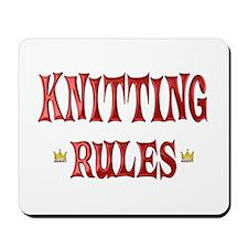 Knitting Rules Mousepad